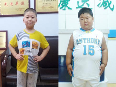 123斤小胖墩减肥完_要上学了